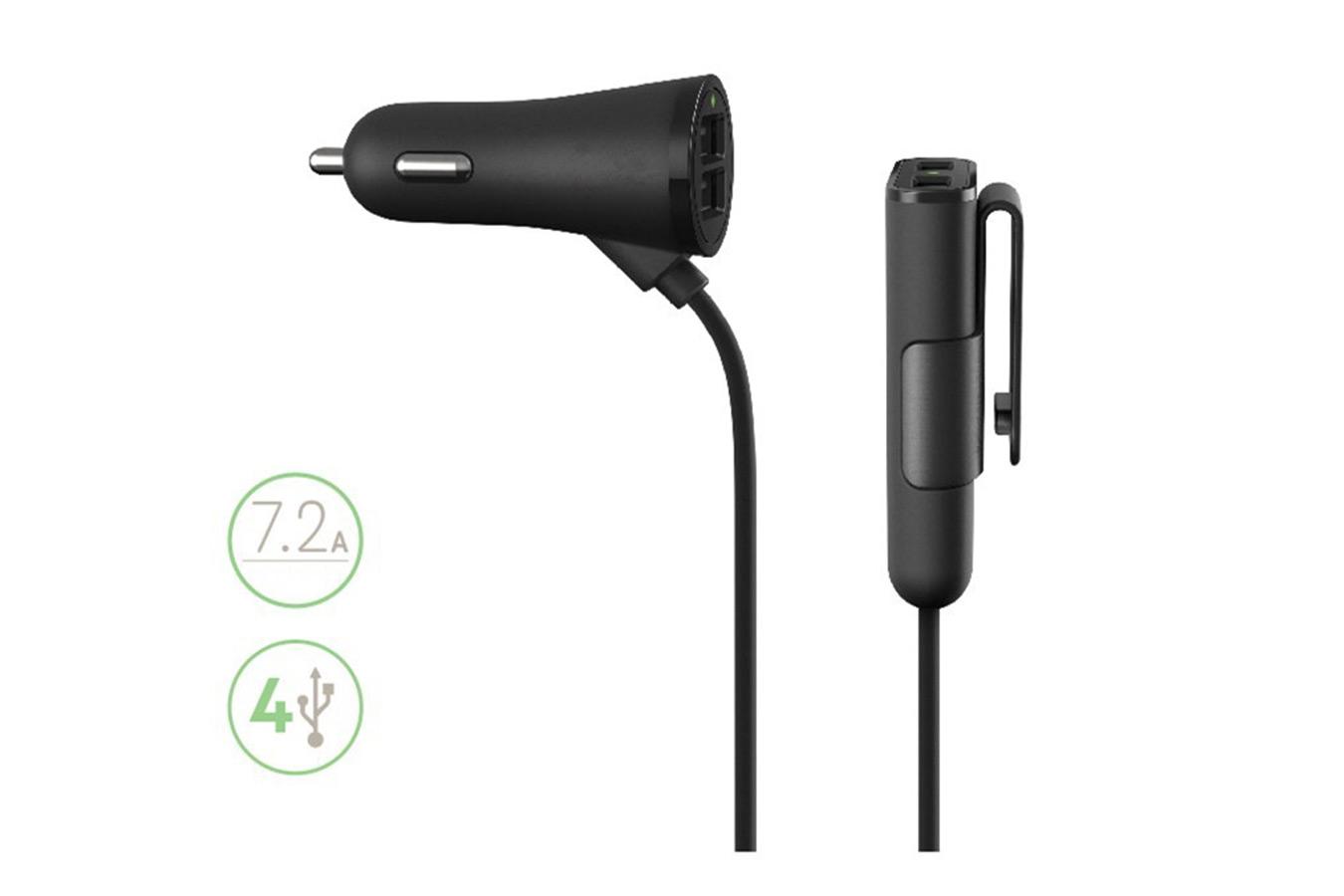 Budi Car Carger автомобильная USB зарядка 7.2A изображение 0