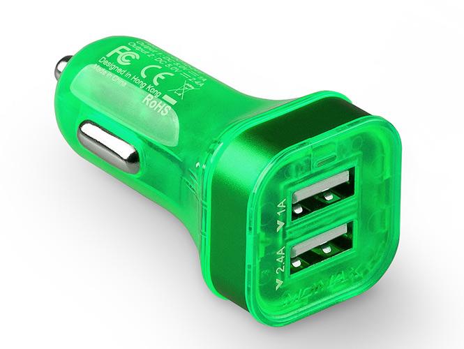 Momax XC автомобильная зарядка 3.4A зеленая